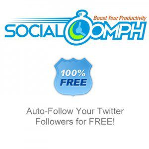 Auto-Follow your followers with SocialOomph.com