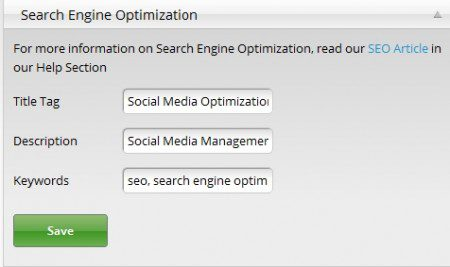SEO Optimize Your SavvyCard!