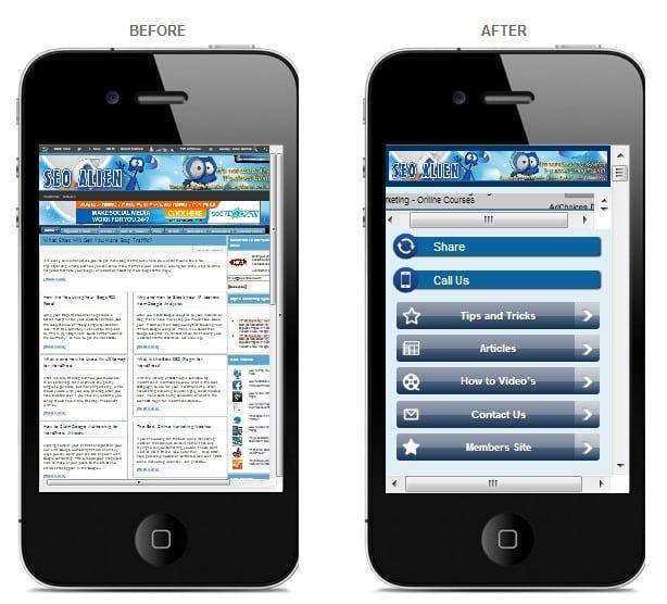 Mobile versus Non Mobile Websites