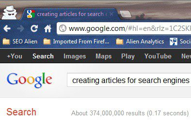 "Search for ""Creating Articles For Search Engines"""