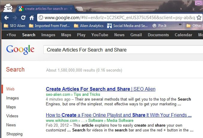 Creating Article Titles For Searches and Share-ability