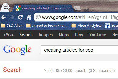 Writing Articles for SEO