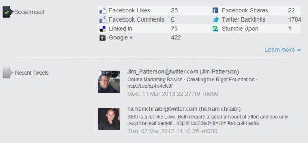 Website Social Stats