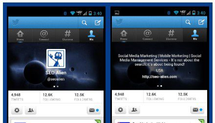 Twitter Mobile Headers