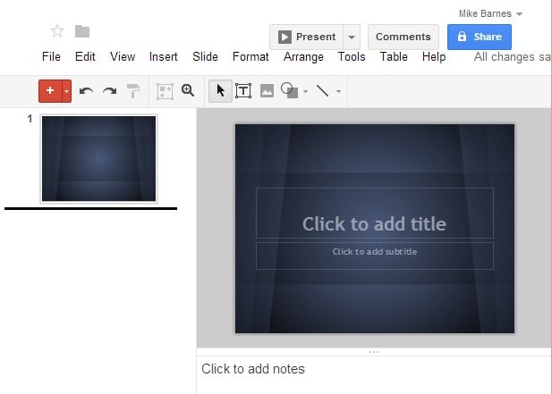 With Google Drive Create Presentations!