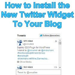 Twitter RSS Feed Timeline Widget