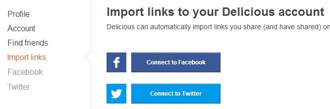 Import Your Twitter Links From Twitter to Delicious