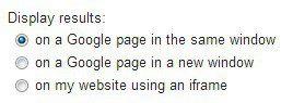 Display Google Custom Search Results