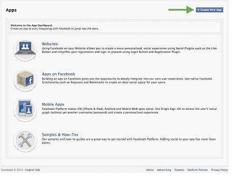 Facebook App Page