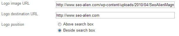 Google Custom Search Logo Placement
