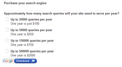 Purchase Google Custom Seearch