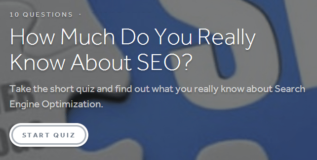 Take the SEO quiz