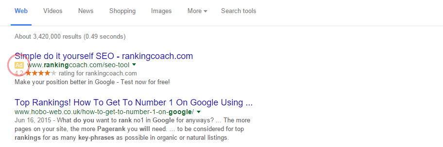 Google Ads on SERP's