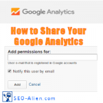 How to share your Google Analytics Account