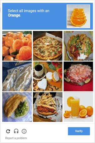 reCAPTCHA challenge