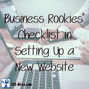 Business Rookies Checklist in Setting Up a New Website