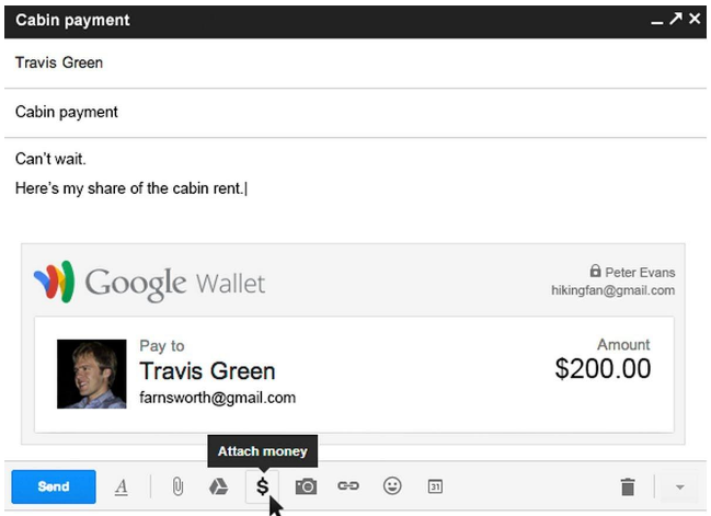 Money transfer through Gmail