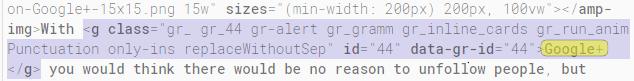 Grammarly HTML Code Error